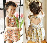 backless clothing brand - 2016 Summer Children Dresses Kids Clothes Baby Girls Sleeveless Backless Heart Shape Flower Dresses Princess Dresses Cute Baby Girls Dresses