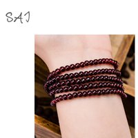 Cheap 2016 Indian Jewelry Surround Multilayer Beads Bracelet Fish Crystal Wood Bracelet National Wind Lovers Bangles Cuff Bracelets Men and Women