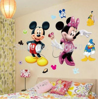 Wholesale Mickey Mouse Minnie Vinyl Mural Wall Sticker Decals Kids Nursery Room Decor WS