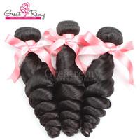Loose Wave beautiful dark hair - Beautiful Hair Weft Brazilian Malaysian Virgi Hair Remi Human Hair Weaves Loose Wave Dyeable Hair Extensions Ggreatremy Hair