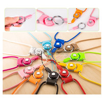 Wholesale Hot sale Rotatable Detachable Ring Neck Strap Lanyard Long Hang Rope for Cell Phone Camera iPad mp3 mp4 USB Flash Buckle Plastic Rope