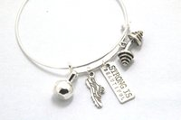 beautiful running - 12pcs Fitness Charm Bracelet Strong is beautiful Bracelet with Kettlebell Running Shoe Barbell bracelet