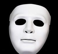 Wholesale Halloween Christmas Festival Masquerade Party Props Ornaments Decoration hip hop dance JabbaWockeeZ Mask White ghost mask