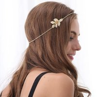 beautiful friendship - Beautiful Women Fashion Gold Plated Leaf Flower Headband Head Chain Hair Jewelry New For Friendship Gift DHF052