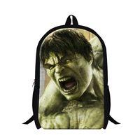 Wholesale Fashion D Superman Hulk Backpack Children School Bags For Teenagers Kids Hero The Avengers Boys Casual Travel Shoulder Bag