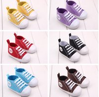Wholesale Foreign spring models years old baby toddler shoes classic canvas shoes baby shoes soft bottom shoes