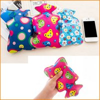 Wholesale High Density PVC Thick Hot Water Bottle Bag Filled With Hot Water Bag Water Warm Bags For Kids Women Keep Warm in Winter