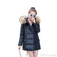 Wholesale Outerwear Slim Hooded Down Jacket Winter Women Coat Jacket Woman s Warm Down Coat Women Wadded Cotton Parka