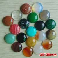 Wholesale hot selling agats Opal Malachite Tiger Eye natural stone mixed round cabochon mm mm freeshipping