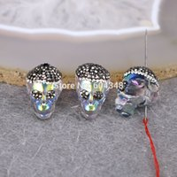 Wholesale P12 Small Size Mixed Color Ceramic Connectors Beads Cylinder shaped with Crystal Zircon Paved Spacer Loose Beads Findings