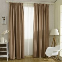 Wholesale Solid Colors Blackout Curtain For The Bedroom Faux Linen Modern Curtain For Living Room Window Curtains Blinds Custom Made