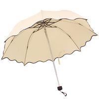 golf umbrella - 2014 Newest Flouncing Folding Lotus Leaves Wave Princess Dome Parasol Sun Rain Women Lady Umbrella