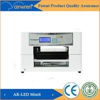 al por mayor nuevos productos usb-Nuevo producto mini a4 tamaño automático uv llevado impresora impresora de placa plana de metal digital para AR-LED Mini6