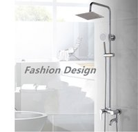 Wholesale Fashion Square Showers bathroom Shower sets single handle stainless steel