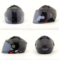 Wholesale Colorful unisex motorcycle helmets hot sale fashionable sun block security adjustable open face plastic high quality helmet
