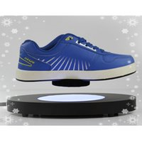 acrylic shoe stand - 5 dhl free Acrylic Magnetic Levitation Shoes Display Stand Magnetic Rotating Shoe Display