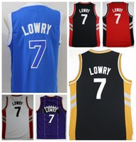 Wholesale Hottest Kyle Lowry Jersey Throwback Purple White Black Red Blue Team Color Kyle Lowry Retro Shirt Uniform Rev New Material Top Quality
