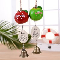 bell apple fruit - Apple Wind Chimes Resin Fruit Bell Doors and Windows Accessories Pendant Accessories