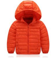 Wholesale Short down jacket New pattern ultrathin Baby coat Boy girl Hooded Down Jackets Short jacket sales