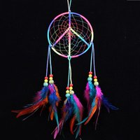 accessories sign decoration - MS1095 Peace Sign Dream Catcher Wall Hanging Decoration Ornament Gift Home Car Accessories
