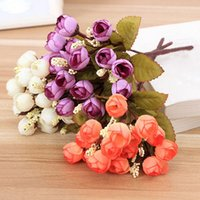 artificial flowers online - Silk Cloth Simulation Decorative Flowers Artificial Holding Decorative Flower Display Flower for Wedding Home Cheap Online