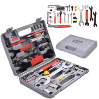 Wholesale 44 PC Multi Function Bike Bicycle Home Mechanic Tool Repair Kit Set Box Cycling