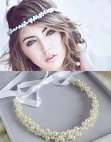 Wholesale Amazing Only Fashion Pearls Hair Chain Beautiful Beading Wedding Bridal Hair Pieces Accessory Jewelry Headband Cheap