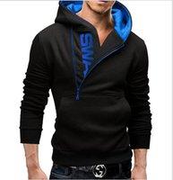 all'ingrosso felpe di design moda maschile-2016 cerniere laterali Set testa su felpa con cappuccio contrasto di colore 5 opzioni di progettazione dei nuovi uomini di modo