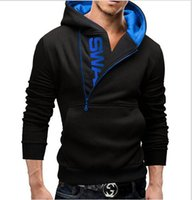 Wholesale 2016 Set head side zippers on the new fashion Men s hoodie Contrast color design options
