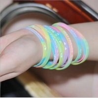 Wholesale Movement silicone bracelet personality English letters silicone solid color wrist wear accessories hair bands