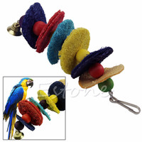 Wholesale New Cages Cockatoo Conure Parrot Birds Loofah Sponge Bite Resistant Chew Toys
