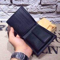 Wholesale Mens Brand Leather Wallet Mens Genuine Leather With Wallets For Men Purse Wallet Men Wallet Cowhide with box free Epacket shipping