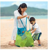 Wholesale 100pcs cm Beach Mesh Bags Sand Away Collection Toy Storage Bag For Sea Shell Kids Children Tote Organizer Mommy s Helpe
