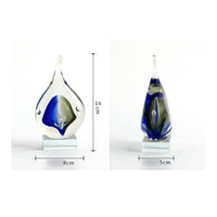 art cabinet - Creative shape of water Crafts glass ornaments modern minimalist home furnishings auspicious ornaments TV cabinet droplets Gifts