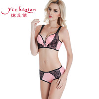 Wholesale Original single burst models drawing Seamless bra no rims gather adjustable bow lace underwear sexy fashion