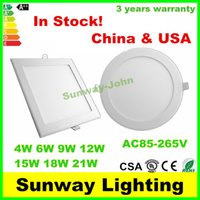 Wholesale w w w w w w w LED Down lights Ultra thin downlight led recessed ceiling panel light round square retrofit lighting