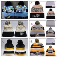 Wholesale Album Offered New Wool Beanies Pittsburgh Penguins Beanie Men Women Knitted Hats Skull Snapbacks Hat Hip Hop Hat Ice Hockey Beanies