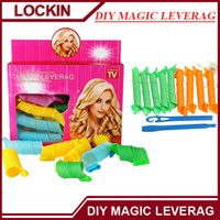 Wholesale 2016 Convenient DIY MAGIC LEVERAG Magic Hair Curler Roller Magic Circle Hair Styling Rollers Curlers Leverag perm set