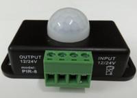 al por mayor conmutación automática de la luz-Mini interruptor automático del sensor de movimiento de PIR DC 12V-24V 8A infrarrojo automático para la tira del LED Luz ligera del LED