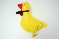 baby duck pet - yellow color Duck Pet Helium Walking Balloon Baby Shower Foil Balloon Party Birthday Wedding Decorations Toys