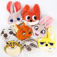 bag flash design - DHL EMS Design Zootopia Judy Nick Flash Coin Purses Cute Coin Bags Plush Pendant Womens Girls Creative Gifts High Quality cm K7141