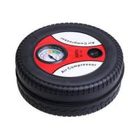 Wholesale new HOT sell Mini Car sport Tire Inflator Air Compressor Portable Pump PSI DC12V free ship
