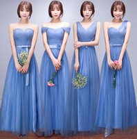 Cheap Pleated Soft Tulle Bridesmaid Dress Under 50 Elegant Long Bridesmaid Gowns Lace Up 2016 Real Photo