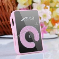 Wholesale Mini Clip Mirror Mp3 Player With Micro TF Slot For Mini SD Card Mp3 Flash Sport Mp3 Player Colors Only MP3