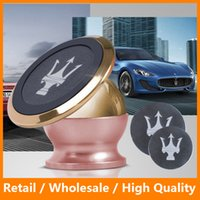 Wholesale Car Holder K Real Gold Plating Super Strong Magnetic Car Phone Holder for iPhone6 s Plus sPlus Samsung Galaxy s6 s6edge s7 s7edge