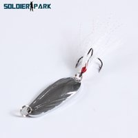artificial stream - Boat Stream Fake Hard Fishing Lure Tackle Feather Hook Spoon Spinner Bait g Metal Artificial Fishing Bait CM Silver Color order lt no trac