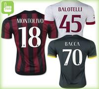 Top versión tailandesa AC Milán fútbol casero Jersey 15 16 calidad de Tailandia MALDINI MONTOLIVO MENEZ TORRES Shaarawy camiseta de fútbol de distancia paño blanco