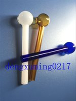 big new tube - new mix colorful cm Pyrex Glass big oil burner pipe clear glass oil burner glass tube glass pipe oil nail