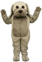 big dog costume xl - High Quality Big Grey Dog Mascot Adult Costume High Quality Plush Dog Theme Anime Cosply Costumes Carnival Fancy Dress KITS