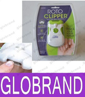 Wholesale NEW Roto Clipper Electric Nail Trimmer White Green automatic Nail clipper GLO826